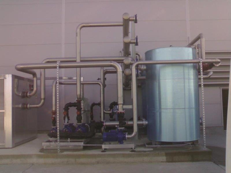 Sistema de água gelada chiller